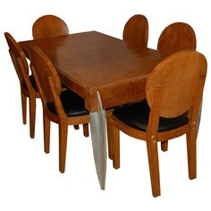 french art deco dining suite by michel dufet art deco dining suite
