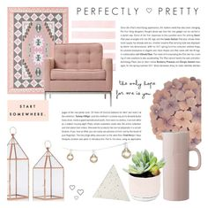 Perfectly Pretty - Decor by rachaelselina on Polyvore featuring polyvore interior interiors interior design home home decor interior decorating Knoll Plum & Bow Bloomingville Arteriors
