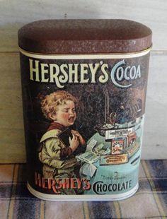 Vintage Tin - Hershey's Cocoa - 1984 - Collectibles - England - Home Decor…