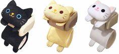 Suporte De Papel Higiênico Gato Rolo Tigre Preto Capa de armazenamento Branca Kitty Kawaii Japão | Casa e jardim, Banho, Porta papel higiênico | eBay!