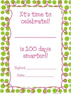 Ready for the 100th Day! {Freebie}