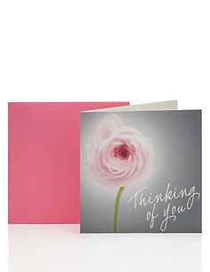 Single Rose Thinking of You Card