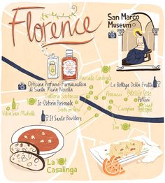 Florence food map - Patrick O'leary
