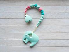 Baby Mädchen Schnuller Clip, Silikon Schnuller Halter, Silikon Kinderkrankheiten Spielzeug, BPA-frei, Dummy-Clip, Baby Beißring Paci Clip, einzigartige Baby-Geschenk