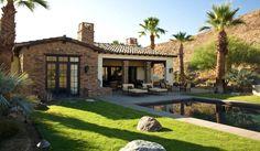 Rancho Mirage Villas - mediterranean - exterior - los angeles - by Sennikoff Architects Spanish Style Homes, Spanish House, Rancho Mirage, Backyard Pool Designs, Mediterranean Homes, Villa Design, Stone Houses, Exterior Design, House Styles