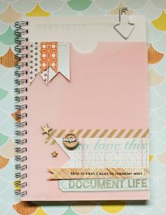 There goes Lisa Truesdell, being all clever again. Love how she used a couple Studio AE stamps (from TechniqueTuesday.com) to decorate up her notebook. Thanks for being our guest in June, Lisa! We love your style.