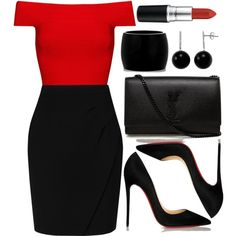 Untitled #3455 by natalyasidunova on Polyvore featuring Posh Girl, L.K.Bennett, Christian Louboutin, Yves Saint Laurent, Alexander McQueen, Gem Sensations, MAC Cosmetics, women's clothing, women's fashion and women