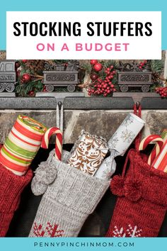 Fill your Christmas stockings on a budget this year with these helpful tips! You'll discover lots of ways to get fun items for the people you love without breaking the bank. Christmas On A Budget, All Things Christmas, Money Saving Tips, Stocking Stuffers, Christmas Stockings, Helpful Hints, Budgeting, Tips For Saving Money, Needlepoint Christmas Stockings