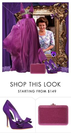 Hyacinth Bucket by fashionrushs on Polyvore featuring Steven by Steve Madden, Judith Leiber and Elie Saab