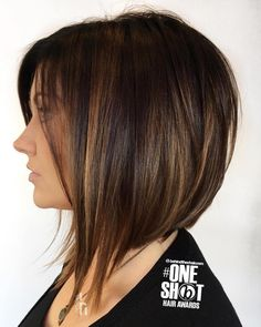 Angled Bob With Partial Highlights