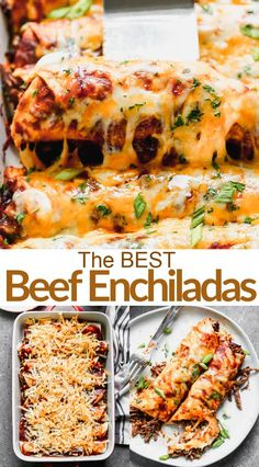 Enchilada Recipes, Enchilada Sauce, Meat Recipes, Mexican Food Recipes, Dinner Recipes, Cooking Recipes, Healthy Recipes, Ethnic Recipes, Recipies