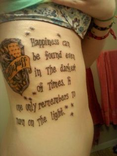 Love this quote from Harry Potter want this as a tattoo...not necessarily like this or where this is though...And Gryffindor all the way!!