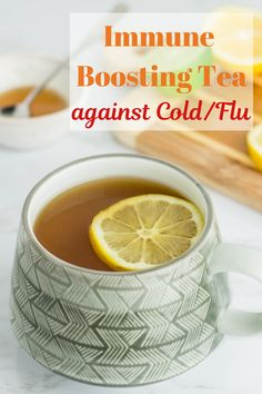 Immune boosting tea against cold/flu- tea made with immune boosting ingredients like ginger, cinnamon, turmeric, lemon, and honey. Works every time! Good Health Tips, Health And Fitness Tips, Health Advice, Healthy Tips, Health Care, Healthy Food, Stay Healthy, Cold Remedies, Natural Remedies