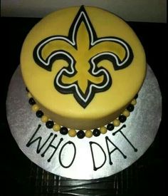 New Orleans Saints Cake Saints Chic Pinterest Saints and Cake