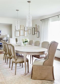 Elegant neutral dining room design | Jennifer Barron Interiors