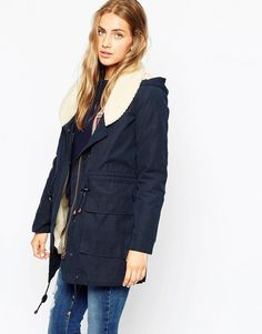 ASOS | Parka With Shawl Collar And Patch Pocket
