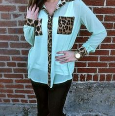 Teal Blouse♥