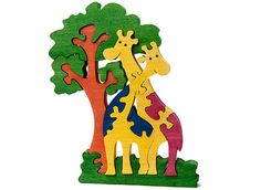 Giraffes  Handmade Wooden Puzzle by PuzzlesAndToys on Etsy, $15.00