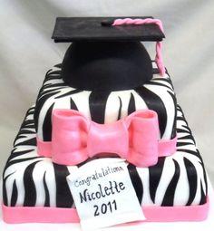 Pink and Black Zebra Graduation