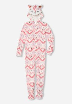 Justice is your one-stop-shop for on-trend styles in tween girls clothing & accessories. Shop our Hooded Fox Onesie. Moda Tween, Tween Mode, Pajamas For Teens, Girls Pajamas, Cute Pjs, Cute Pajamas, Pijama Unicorn, Pretty Outfits, Cute Outfits