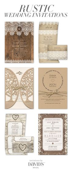 For a vintage-inspired or woodsy wedding day, choose heartfelt invitations with naturally charming details.