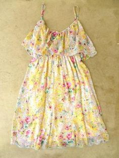Scattered Summer Garden Dress [2564] - $34.00 : Vintage Inspired Clothing & Affordable Summer Dresses, deloom | Modern. Vintage. Crafted.