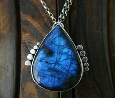 Electricity Dancing - Labradorite Sterling Silver Necklace by Mercury Orchid