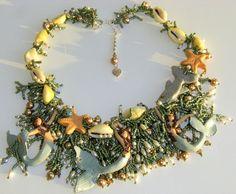 collana di conchiglie pokonaso   Mermaid Necklace   Waterworld   Pinterest