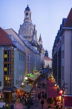 Münzgasse, Dresden, Germany.