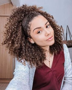 Ideas For Hair Braids Afro Natural Hairstyles Long Curly Hair, Curly Hair Styles, Natural Hair Styles, Curly Girl, Big Hair, Short Hair, Afro Hairstyles, Hair Type, Hair Hacks