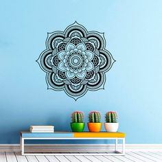 wall decal mandala decals indian pattern vinyl sticker yoga namaste wall decor home interior design art murals bedroom dorm vk11