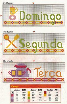 by Sandra Duarte: Gráfico Ponto Cruz - Semaninha
