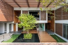 """Completed in 2013 in Bangkok, Thailand""""Wind House"""" was created as """"Resort Space"""" which was the owner's preference style regarding the site conditions. As it was located on the edge of the..."""