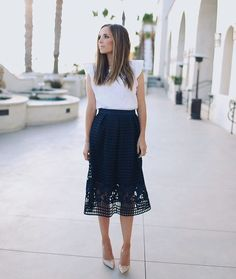 "Merrick White on Instagram: ""A full look at today's summer wedding outfit. Also this white cotton ruffle sleeve top has become a summer staple! It's easy to dress up or down, and it's on sale this weekend for $18  AND this skirt is 20% off this weekend with code HISUMMER. hurry and snag them while they're still available! Shop everything right here or find the links on my blog today: http://liketk.it/2otEB #favorites #summerstyle #merrickstyle : @radandhappy"""