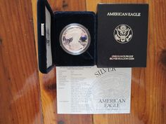 "#coins 1995-P ""Key Date"" PF Deep Cameo Silver Eagle With Mint Box & COA #1 please retweet"