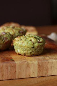 La Toque Frisée: Muffins salés au jambon, pesto et chèvre