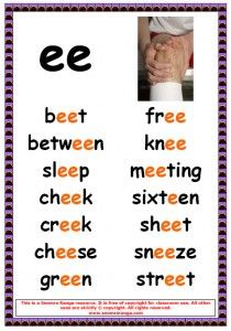 phonics ee words - Yahoo Image Search Results