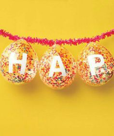 DIY party banner - filled balloons