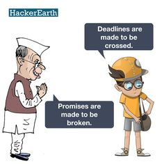Deadlines and promises!