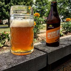 """""""Monday got you down? Don't frown! HG has the stein for you. S/O @greenflashbeer for a delicious Tangerine IPA. #beer #beerstagram #beergarden #beertime #beers #monday"""" via hannoverglassware on Instagram"""