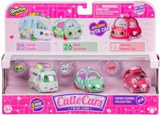 Shopkins Cutie Cars Candy Combo Collection Figure 3-Pack #25, 26 & 27 [Candi Combi, Mint Sprinter & Candy Heart Car]