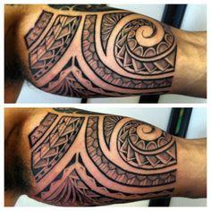 polynesian-half-sleeve-tattoo #polynesian #tattoo