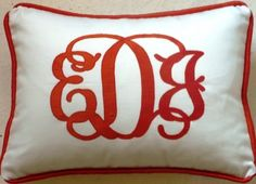 Pillow Talk - order custom pillows - personalized pillows by Liz Dunaway - Charlotte, NC