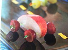 Cute apple race car