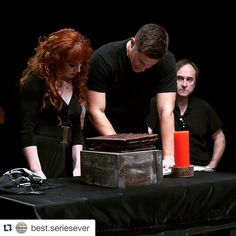 """""""So excited for #ActionAckles ep tonight - I loved being directed by @jensenackles #AmazingAckles @cw_supernatural #supernatural #TheBadSeed #Rowena"""""""