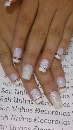 Deep french nails Side Braids # side Braids with flowers - Deep . - Deep french nails Side Braids # side Braids with flowers – Deep french nail - Classy Nails, Cute Nails, Pretty Nails, My Nails, Bride Nails, Wedding Nails, French Nails, Unicorn Nails Designs, Short Fake Nails
