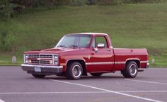 "1987 Silverado with factory fuel injection–lowered with stock wheels widened to 10.5"" in front and 12"" in rear with 50-series tires along with added rear sway bar. Stock otherwise."