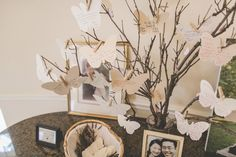 Butterfly guestbook. Photo by Nbarrett Photography.  #wedding #butterfly #guestbook