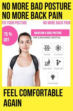 The Best Posture Corrector For Men and Women! The Top Posture A Back Brace For Posture and Mind. Our Zeowo Back Posture Corrector heals your back problems and your depression. Our Zeowo Posture Corrector is made of custom cushioning. Back Brace For Posture, Fix Your Posture, Better Posture, Bad Posture, Improve Posture, Shoulder Posture Corrector, Posture Corrector For Men, Shoulder Support Brace, Muscle Imbalance