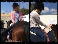 Terapia con caballos niños con TEA. Aula Específica TEA.